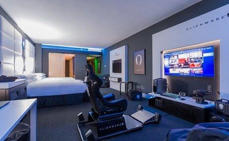 اتاق مخصوص بازی های رایانه ای در هتل هیلتون پاناما+ عکس