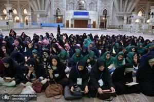 تجدید میثاق جمعی از دانش آموزان دختر استثنایی با آرمان حضرت امام(س)