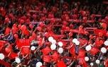 هواداران تراکتور علیه آجرلو و بازیکنان شعار دادند