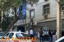 تجمع کارگران آب و فاضلاب روستایی خوزستان مقابل اداره کل  تجمع به علت عدم پرداخت حقوق