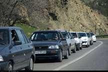 ترافیک نیمه سنگین در مسیر جنوب به شمال جاده چالوس