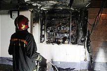 آتش سوزی در یک ساختمان مسکونی قزوین مهار شد