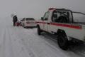 تیم های  امداد و نجات در گردنه های برفگیر قزوین مستقر شدند