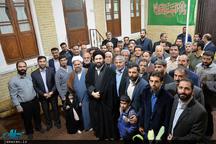 دیدار امام جمعه، مسئولین و جمعی از مردم شریف آباد استان تهران با سیدعلی خمینی