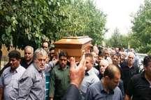 مادر بسیجی شهید حسین جلالی دارفانی را وداع گفت