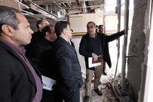 بازدید وزیر راه و شهرسازی از بیمارستان امام خمینی(ره) اسلام آباد غرب