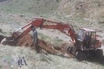 آغاز ساخت دو چشمه آبشخور مصنوعی در پناهگاه حیات وحش سفید کوه ازنا
