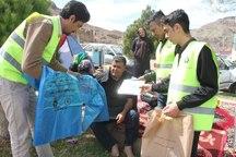 پلاستیک جمع آوری زباله در روز طبیعت توزیع شد