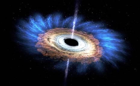 واکنش زیبا و هنری یک سیاه چاله / عکس