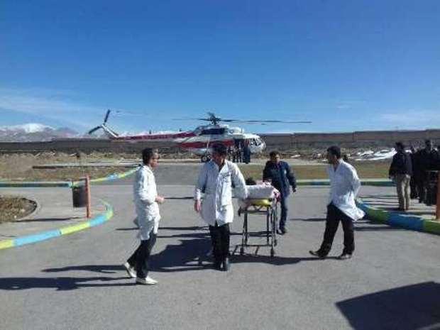 121 فرد گرفتار درسیل توسط اورژانس هوایی لرستان منتقل شد