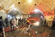 خبر عمدی بودن آتشسوزی بازار تبریز تکذیب شد