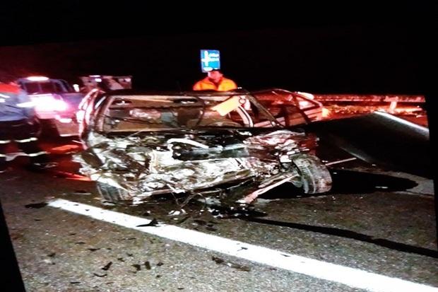 برخورد چهار خودرو در آزادراه کاشان 10 آسیب دیده برجا گذاشت