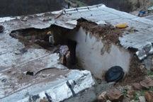 ریزش کوه به 2 واحد مسکونی در کرمانشاه آسیب زد