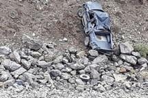 6 نفربراثر سقوط خودرو به دره در جاده آبگرم مصدوم شدند