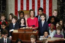 زن قدرتمند دموکرات رئیس مجلس نمایندگان آمریکا شد