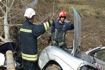 چهار کشته و مجروح به دلیل برخورد خودرو به درخت در رشت