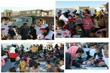 خدمات دهی تیم سحر خراسان رضوی به کودکان منطقه زلزله زده سرپل ذهاب