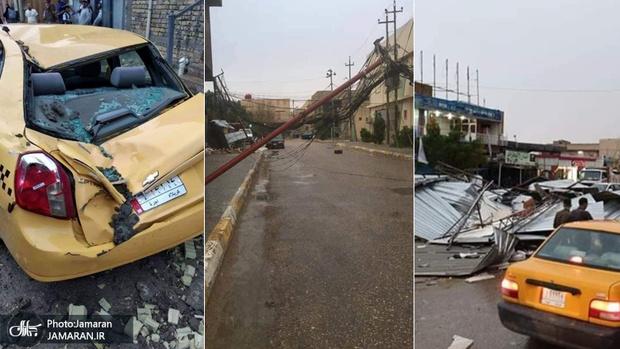 طوفان مرگبار در کربلا و نجف+ تصاویر