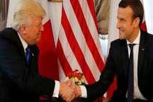 رئیس جمهور فرانسه: دست دادن من با ترامپ بدون غرض نبود