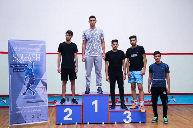 نفرات برتر مسابقات اسکواش پسران کشور در اراک اعلام شد