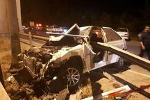 انحراف پژو پارس در آمل 2 کشته و یک زخمی بر جای گذاشت