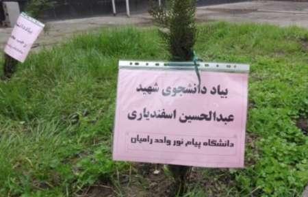 غرس چهار هزار نهال به یاد شهدای گلستان