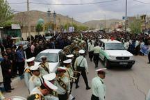 پیکر مطهر شهید نیروی انتظامی در گیلانغرب تشییع شد