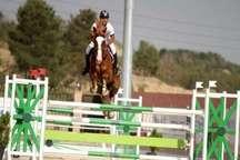مسابقات پرش با اسب سه جانبه در قزوین برگزار شد