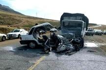 6 کشته و 7 مجروح در برخورد کامیون با پراید در اندیکا