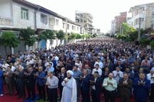 نماز عید فطر در آستارا اقامه شد