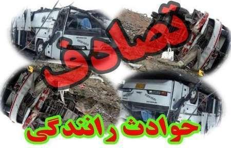 سانحه رانندگی در عوارضی زنجان - قزوین پنج نفر را روانه بیمارستان کرد