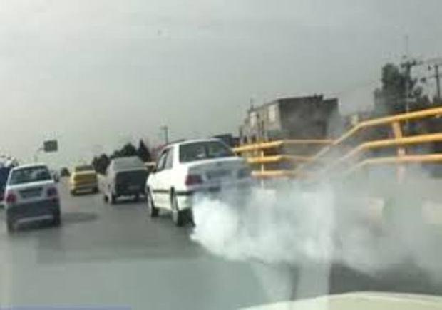 طرح ضربتی برخورد با وسایل نقلیه آلاینده درکرج اجرایی شد
