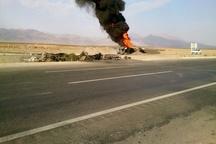 46 کشته و زخمی در حادثه برخورد اتوبوس با کامیون حامل سوخت