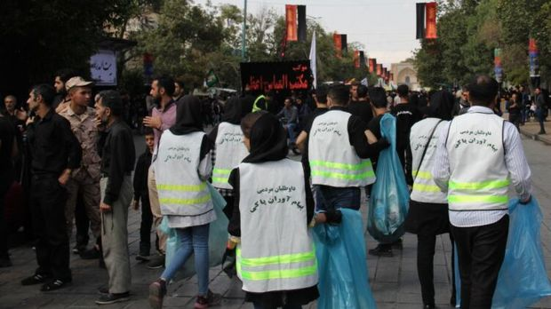 مشارکت ۷۰۰ شهروند قزوینی در نظافت مسیرهای عزاداری
