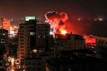 صهیونیستها یکصد نقطه نوار غزه را بمباران کردند