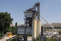 تولید بیش از 4000 تن آسفالت در کارخانه آسفالت شهرداری کرج