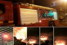 آتشسوزی 2 باب مغازه در شهرستان دزفول