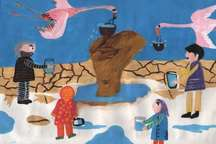 مشارکت 250 نفر ازکودکان آذربایجان غربی در طرح نقاشی برای دریاچه ارومیه
