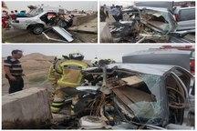 2 کشته در سانحه رانندگی بزرگراه تهران - قم