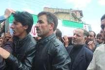 پیکر یک جانباز شهید در خلخال تشییع شد
