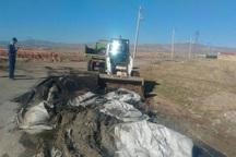 پسماندهای صنعتی در ناصرآباد قزوین پاکسازی شدند