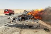 رییس پلیس راه همدان: کامیون بنز در آتش سوخت