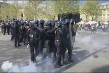 درگیری بین پلیس فرانسه و معترضان جلیقه زرد