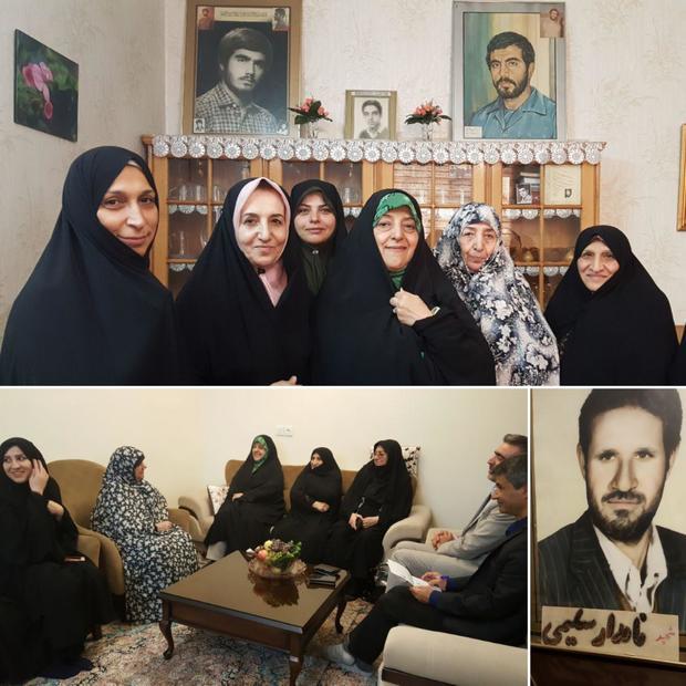 دیدار معصومه ابتکار با دو خانواده شهید + عکس