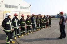 دوره آموزش آتش نشانان جنوب آذربایجان غربی در بوکان آغاز شد