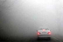 مه بر جاده های کردستان سایه افکنده است