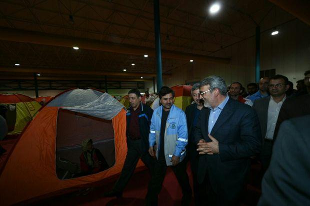 وزیر کشور از اسکان موقت سیلزدگان آق قلا دیدن کرد