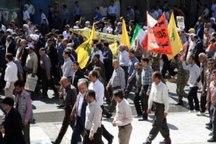 حمایت مردم سرزمین مجاهدت های خاموش از مردم مظلوم فلسطین