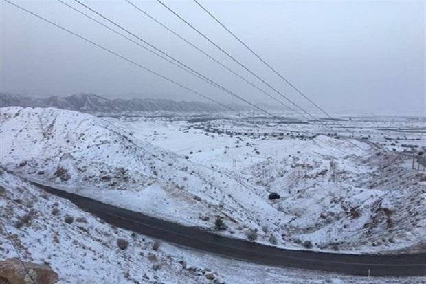 ارتفاعات قزوین پوشیده از برف شد