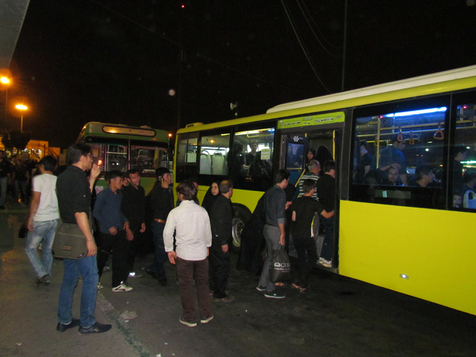 خدمات رسانی اتوبوسرانی تهران در لیالی قدر